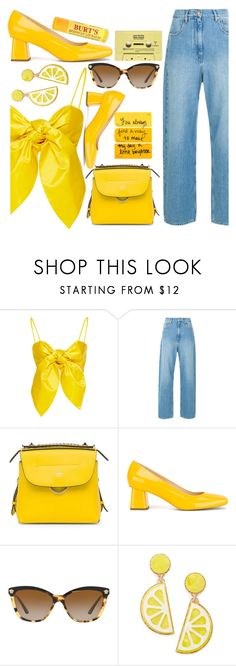 """Beeswax"" by floralandmay ❤ liked on Polyvore featuring Leal Daccarett, Fendi, Rayne, Versace, Celebrate Shop, CASSETTE and Burt's Bees"