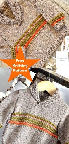 Baby Knitting Patterns, Baby Cardigan Knitting Pattern, Christmas Knitting Patterns, Crochet Patterns, Crochet For Boys, Knitting For Kids, Free Knitting, Knitting Sweaters, Knitting Accessories