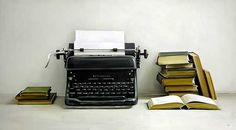 Remington Typewriter & Antique Books by Christopher Stott.