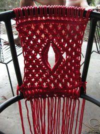 How to make a chair. Macramé Chair - Step 3