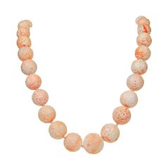 Angel-Skin Coral Necklace