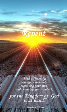 YES! Gospel and train Tracks for MY Partner who Walks with me in ALL Things! Matthew 3:2