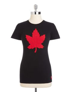 Olympic Collection | Maple Leaf Appliqué Cotton Tee | Hudson's Bay #HBCOlympics