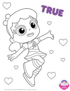 True From True and The Rainbow Kingdom Coloring Pages in