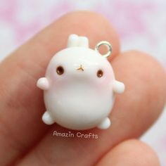 Molang Polymer Clay Charms Polymer Clay Jewelry by AmazinCraftss