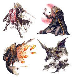 Castlevania: Symphony of the Night - Alucard Magic Abilities Studies