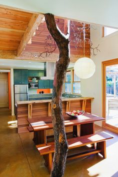 Santa Cruz Straw Bale House eclectic dining room and kitchen Interior Exterior, Interior Architecture, Beautiful Architecture, Home And Deco, Modern Interior Design, Contemporary Design, Decoration, My Dream Home, Sweet Home