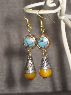 Tibetan Bead Earrings