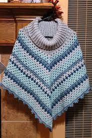 Image result for cowl neck poncho crochet pattern free                                                                                                                                                     More