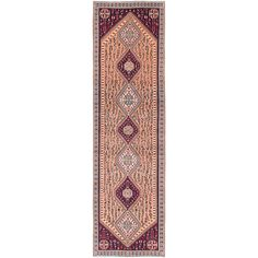 ecarpetgallery Hand-Knotted Abadeh Brown Wool Rug (2'9 x 10'1)