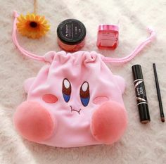 Cosmetic Storage, Bag Storage, Kirby Bags, Kawaii Makeup, Card Captor, Dice Bag, Makeup Pouch, Doll Eyes, Girls With Glasses