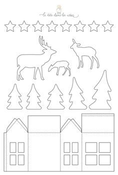 Des idées de décorations de Noël en papier : une forêt, des ours polaires, des sapins, une couronne, du houx, des maisons, des DiY simples et rapides > Voir les créations !