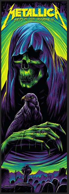 Tattoo Music Skull Concert Posters 31 New Ideas Metallica Concert, Metallica Art, Rock Band Posters, Heavy Metal Rock, Music Tattoos, Metal Artwork, Thrash Metal, Music Covers, Concert Posters