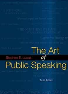 Download The Art Of Public Speaking 10th Edition Ebook By Stephen E