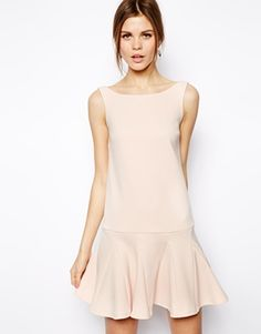 Image 1 of ASOS Pep Hem Shift Dress