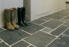 slate flooring   Trevail Slate ....like the size variation
