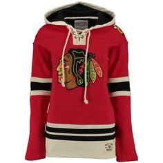 Women s Chicago Blackhawks Old Time Hockey Red Lacer Heavyweight... ❤ liked  on Polyvore 5d6529493