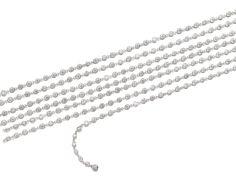 Diamond longchain.  Designed as a series of collet-set brilliant-cut diamonds, length approximately 2150mm.