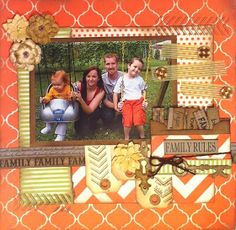 Canvas Corp Family Rules scrapbook layout.