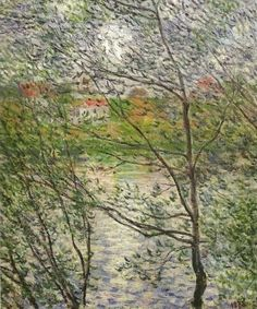 Claude Monet, The Banks of the Seine or Spring through the Trees, 1878. on ArtStack #claude-monet #art