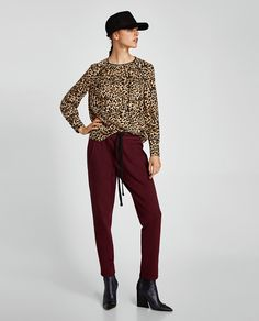Image 1 of ANIMAL PRINT BLOUSE from Zara