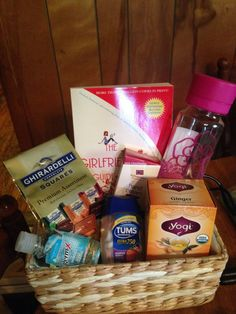 Pregnancy Gift Basket. Perfect for celebrating at Glen Ivy. Be sure to schedule a mom-to-be massage for that special lady!