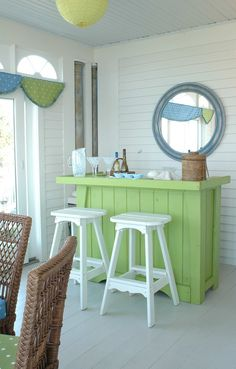 charming cottage bar on the patio