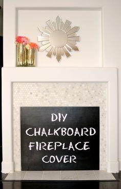 DIY: Chalkboard Fireplace Cover! | SheKnows