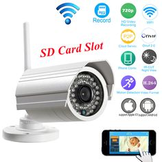 HD 720P IP Camera WIFI Wireless Onvif P2P 1.0MP 36pcs Infrared IR LEDs Support Micro SD Card Recording Home CCTV Security Camera