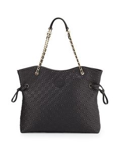 Marion+Quilted+Slouchy+Tote,+Black+by+Tory+Burch+at+Neiman+Marcus.