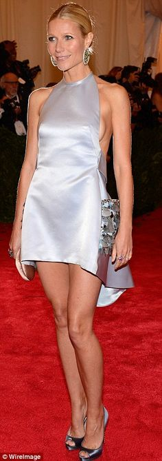 Gwyneth Paltrow had no problems, paying tribute to tonight's hostess Miuccia in a stunning short and backless lilac-silver dress that was probably the most elegant outfit on the red carpet tonight at New York's Metropolitan Museum of Modern Art.   #MetGala