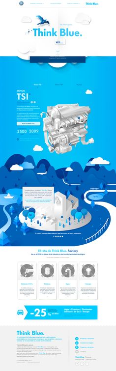 Unique Web Design, Volkswagen #webdesign #design (http://www.pinterest.com/aldenchong/)#pop