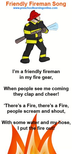 Fireman song for preschoolers and pre k kids learning about community helpers…