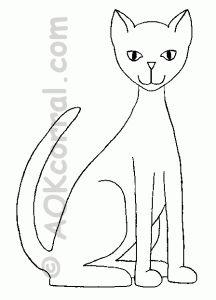 Kedi Şablonları,Kedi Kalıpları, Kedi Boyama Resimleri