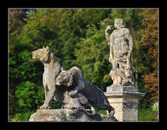 Chateau Vaux le Vicomte, exteriors. Sculpture photo image.