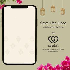 Indian Wedding Invitation Cards, Wedding Invitation Video, Indian Wedding Cards, Engagement Invitations, Save The Date Invitations, Custom Wedding Invitations, Invitation Ideas, Wedding Stationery, Indian Wedding Video