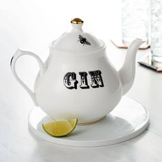 'Gin' Teapot. A fun and fabulous design which is perfect for wowing guests at your dinner or tea parties, and is guaranteed to get the table talking and the party started.