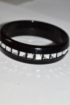 Light Bangles Black plastic Jewelry Unique for women Unique Design #Box 1 by eventsmatters on Etsy