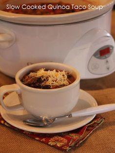 slow cooked quinoa taco soup