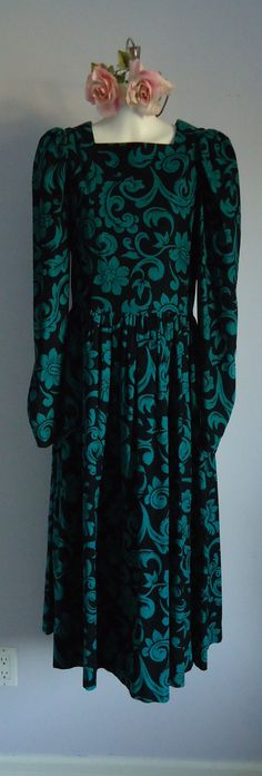 80s Laura Ashley. I wore lots and lots of her dresses. I had this dress....wish I kept them all