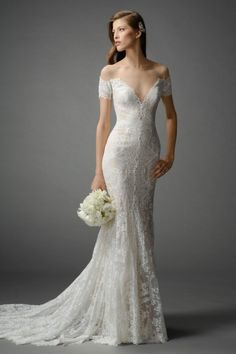 WOW !  !  If you can carry off this design - you may not find anything more BEAUTIFUL ! ! !  Watters Brides Mila Gown Style 7014B | Watters.com
