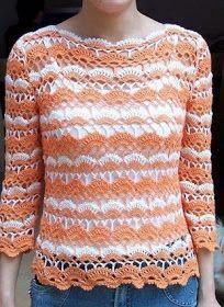 ❤ ✿ Mi Rincón del Tejido ✿ ❤: Suéter tejido a crochet