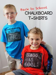 DIY Back to School Chalkboard T-shirts