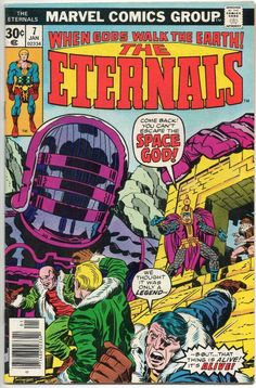 The Eternals 7 Marvel Comics For Sale Jack Kirby Marvel Comic Character, Marvel Comic Books, Marvel Characters, Comic Books Art, Marvel Comics, Hq Marvel, Book Cover Art, Comic Book Covers, Comic Book Artists