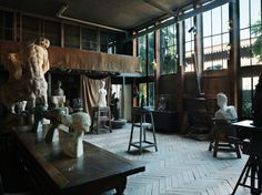 musée bourdelle in montparnasse, studio of monumental sculptor antoine bourdelle, pupil of auguste rodin and mentor to alberto giacometti; also houses works by ingres, delacroix and rodin himself