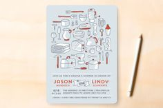 Every Little Thing Bridal Shower Invitations by Laura Hankins at minted.com