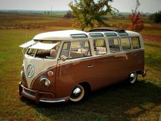 1965 Volkswagen Bus - this was the premier hippy-mobile when I was a kid... weird, now I really want one...
