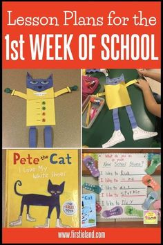 Do you need first week of school activities for your kindergarten or first grade. - Do you need first week of school activities for your kindergarten or first grade classroom? Kindergarten First Week, Preschool First Day, First Day Of School Activities, Kindergarten Lesson Plans, First Grade Classroom, Kindergarten Activities, Book Activities, Kindergarten Classroom, Classroom Ideas