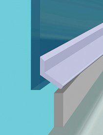 croydex universal shower door seal kit 100 cm