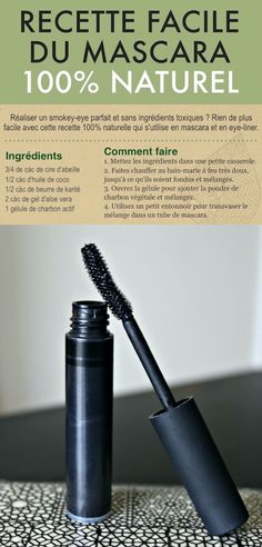 Looking for an easy homemade mascara recipe? Here is the best DIY recipe to get doe eyes easily without using toxic products! In addition, this natural mascara can also be used as an eyeliner. Save money and make this mascara now Homemade Mascara, Homemade Cosmetics, Cute Makeup Looks, Make Up Gesicht, Eyeliner, Natural Mascara, Workout Clothes Cheap, Doe Eyes, Workouts For Teens